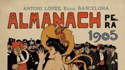 Cartell anunciant l'Almanach de l'Esquella de la Torratxa de 1905