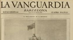 Portada de La Vanguardia del 16 d'abril de 1931 - AHCB