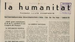 Portada de La Humanitat, número 1 de la segona època, de l'1 de setembre de 1945