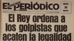 Portada d'El Periódico de Catalunya del 24 de febrer del 1981