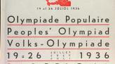 Portada del programa de l'Olimpíada Popular de Barcelona de 1936