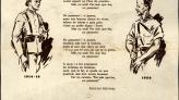 Poema No Passareu d'Apel·les Mestres, del 1936. Col·lecció Fulls Volanders