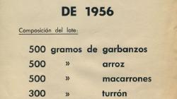 Anunci promogut per l'Ajuntament de Barcelona sobre els Bons de Nadal de l'any 1956