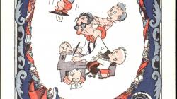 """Cartell de felicitació de les festes de Nadal de """"El Humorista"""". Autor: Muntañola, 1944"""