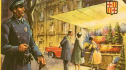 Cartell municipal de felicitació de les festes de Nadal de l'Ajuntament de Sants