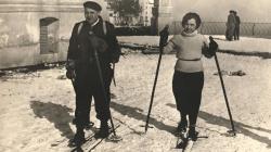 Fotografia de la nevada de l'any 1934 al Tibidabo. AMDSG.