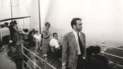 Fotografia de l'actor Montgomery Clift en el Tibidabo el año 1961. AMDSG.