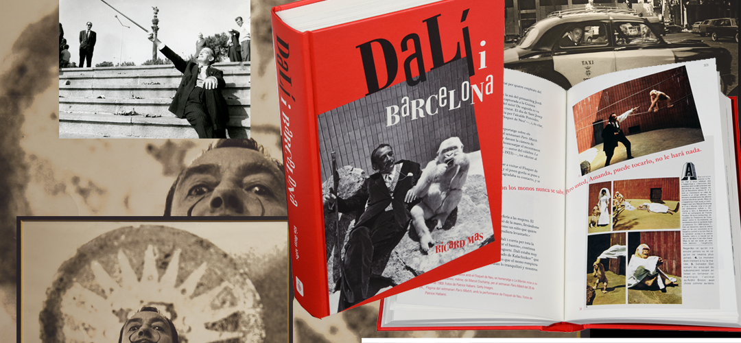 Imatge de la coberta i pàgines interiors del llibre 'Dalí i Barcelona'