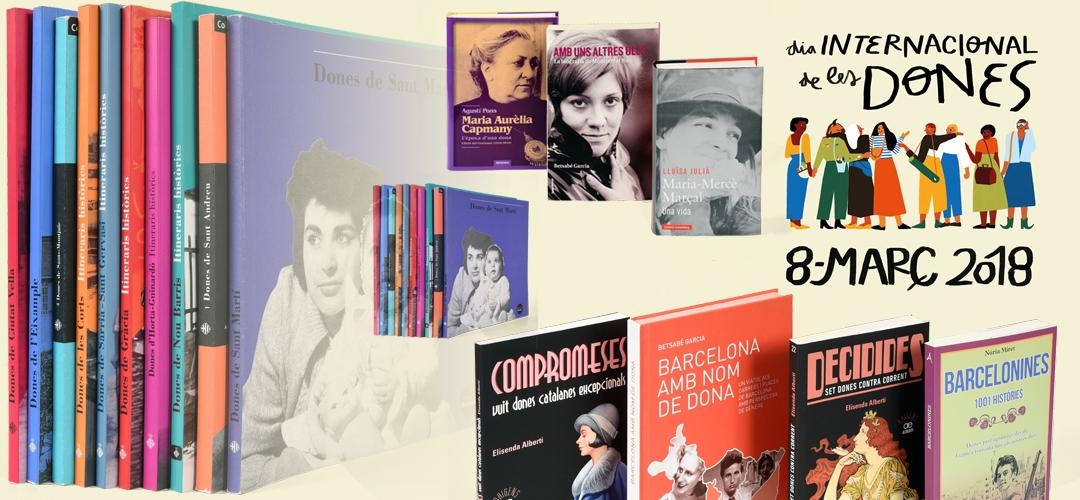 Imatge de cobertes de llibres sobre les dones barcelonines