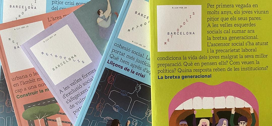 Imatge de cobertes de la revista Barcelona Metròpolis