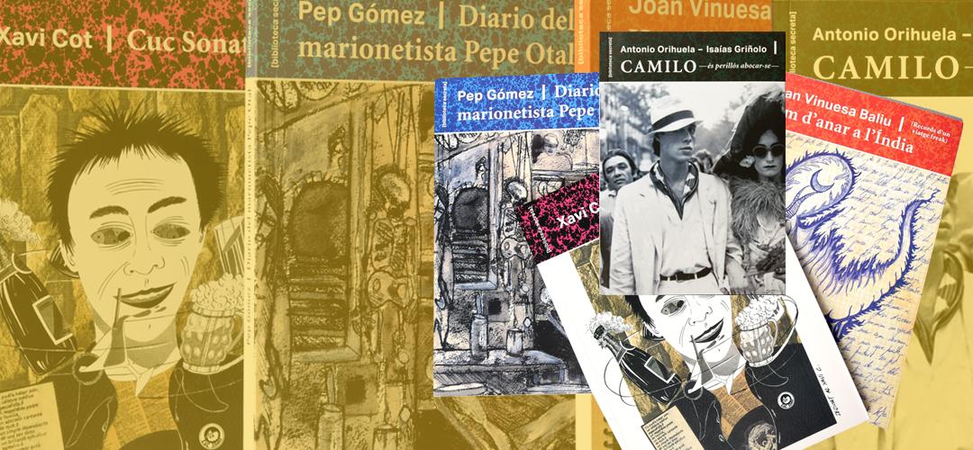 Imatges de les cobertes del llibres que formen part de la col·lecció 'Biblioteca secreta'