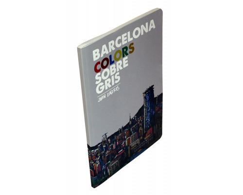 Barcelona colors sobre gris