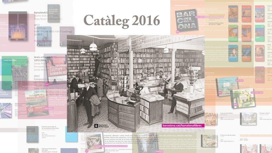 Imatge de la coberta del Catàleg 2016 de publicacions de l'Ajuntament de Barcelona