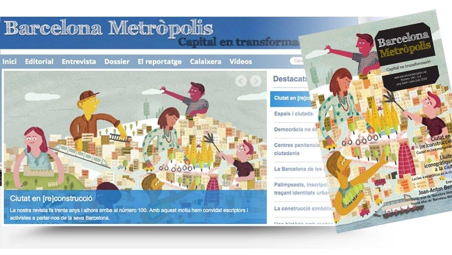Imatge de la coberta de la revista 100 de 'Barcelona Metròpolis'
