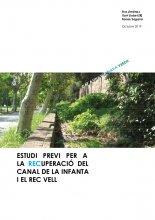 Imatge de la coberta del llibre 'Estudi previ per a la recuperació del Canal de la Infanta i el Rec Vell'