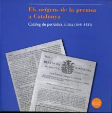 Coberta del llibre Els orígens de la premsa a Catalunya
