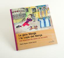 Imatge de la coberta del llibre 'La gata Marga i la copa del Barça'