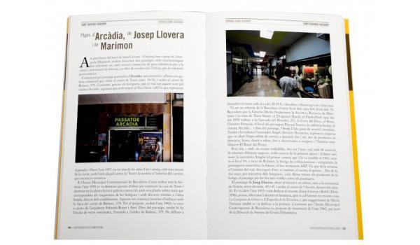 Pàgines interiors del llibre 'Barcelona 100 passatges'