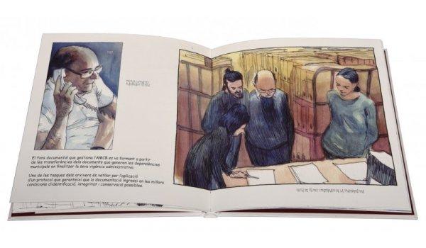 Imatge de les pàgines interiors del llibre 'Barcelona Arxiu Municipal Contemporani'