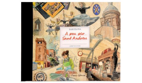 Imatge de la coberta de 'A peu per Sant Andreu' de la col·lecció 'Carnet de Voyage'