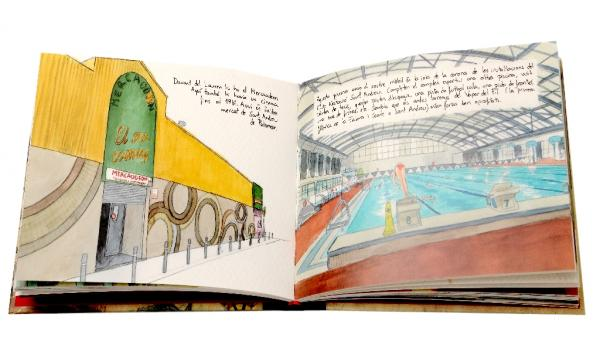 Imatge pàgines interiors del llibre 'A peu per Sant Andreu' de la col·lecció 'Carnet de voyage'