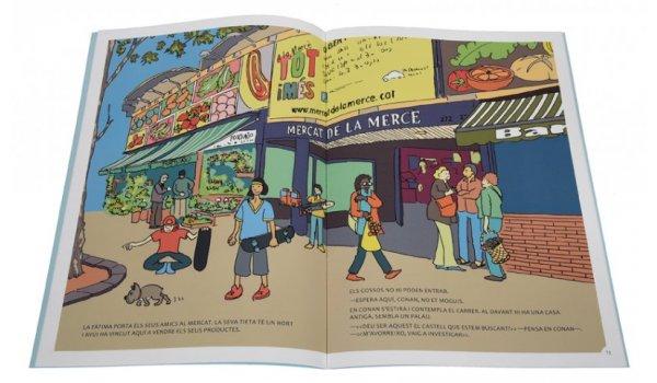 Imatge de les pàgines interiors del llibre 'Els sis a Barcelona. Aventura a Nou Barris'