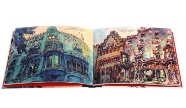 Imatge de les pàgines interiors del llibre Barcelona Travel Notebook