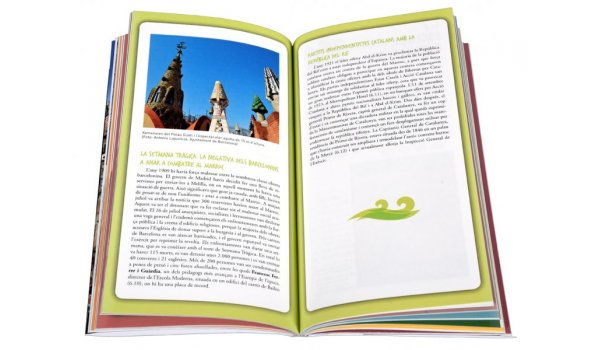 Imatge de les pàgines interiors del llibre 'La Barcelona africana'