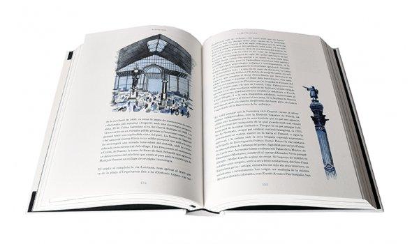 coberta de les pàgines interiors del llibre 'Barcelones', de Manuel Vázquez Montalbán