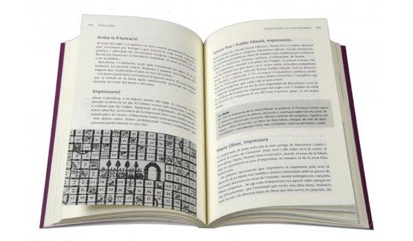 Imatge de les pàgines interiors del llibre 'Barcelonines. 1001 històries'