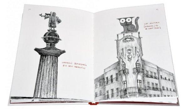 Imatge de les pàgines interiors del llibre 'BCN.GAT'