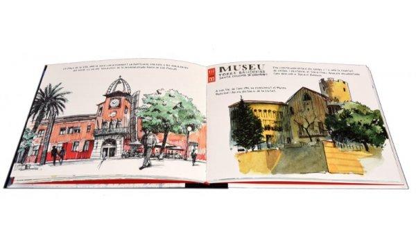 Imatge de les pàgines interiors del llibre 'El Besòs, ponts que uneixen'