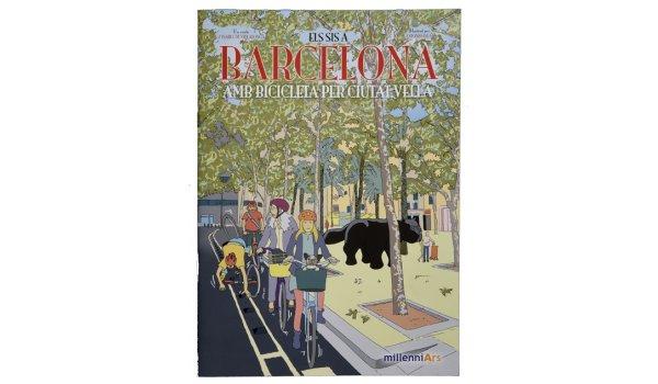 Imatge de la coberta del llibre 'Els sis a Barcelona. Amb bicicleta per Ciutat Vella'