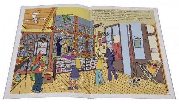 Imatge de les pàgines interiors del llibre 'Els sis a Barcelona. Amb bicicleta per Ciutat Vella'