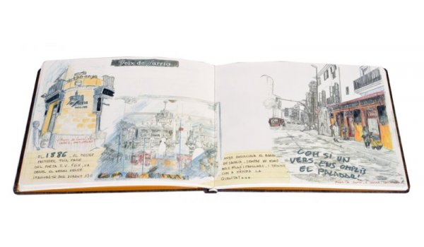 Imatge de les pàgines interiors del llibre 'L'encís del comerç emblemàtic'