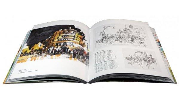 Imatge de les pàgines interiors del llibre 'Dibuixem Barcelona'