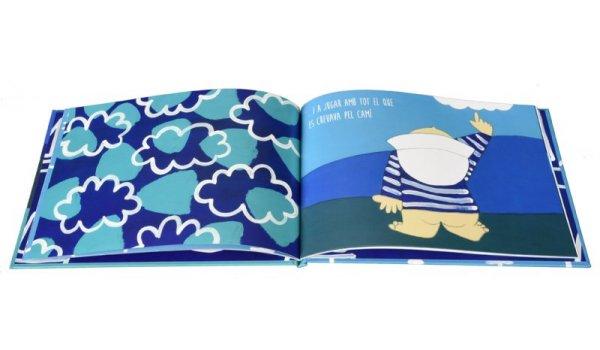 Imatge de les pàgines interiors del llibre 'El Marineret de la Barceloneta'