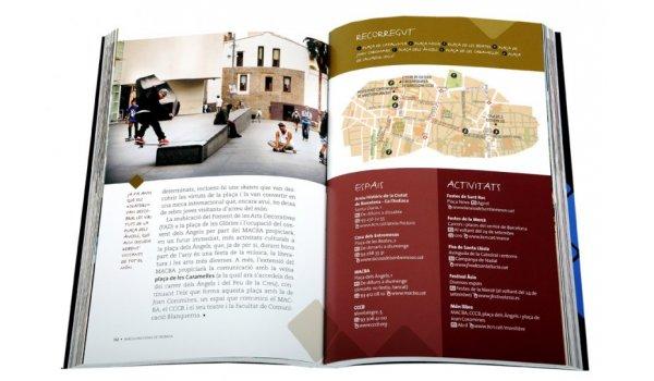 Imatge de les pàgines interiors del llibre 'Barcelona, espais de trobada'