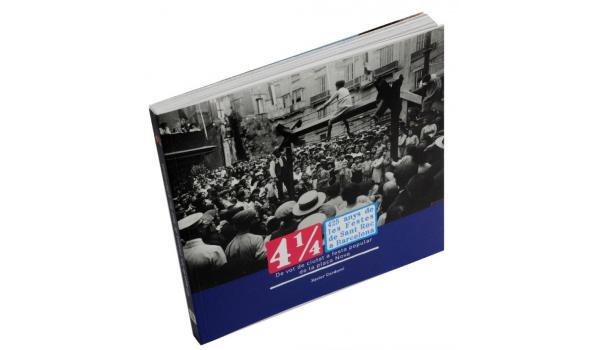 Imatge coberta del llibre dels 425 anys de les Festes de Sant Roc on es veu una fotografia dels anys 1920 amb un joc de la cucanya