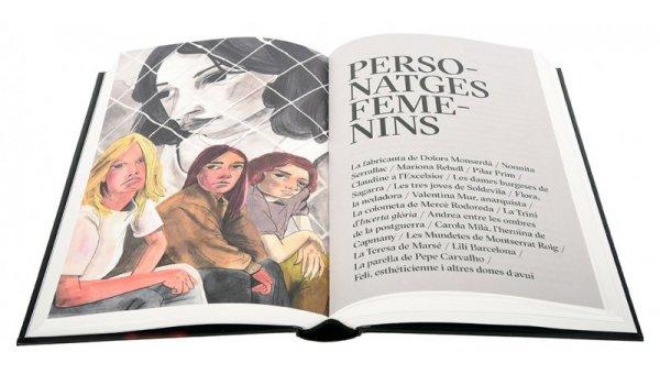 Imatge de les pàgines interiors del llibre 'Flors i violes. La Barcelona literària en clau femenina'