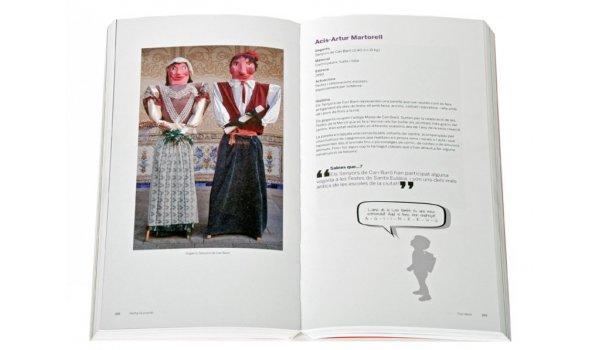 Imatge de les pàgines interiors del llibre 'Els gegantons de les escoles de Barcelona'