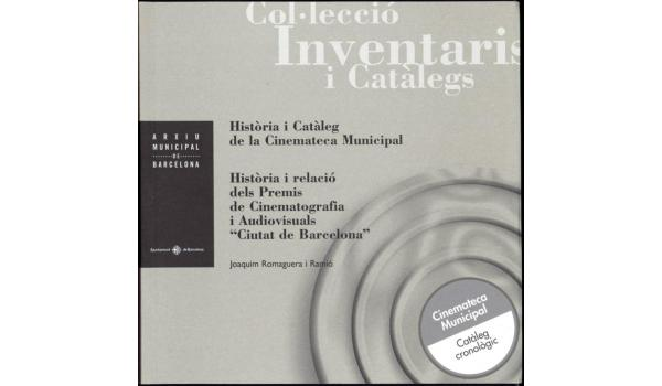 Coberta del llibre Història i catàleg de la cinemateca municipal