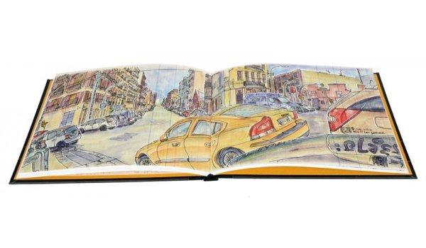 Imatge de les pàgines interiors del llibre 'Atlas ilustradio de un barrio industrial'