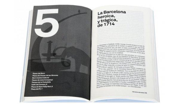 Imatge de les pàgines interiors del llibre 'Barcelona de novela'