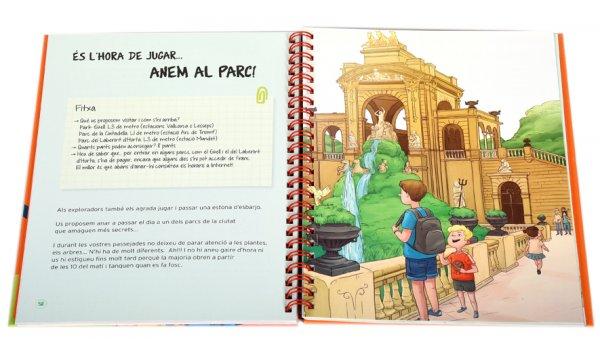 Imatge de les pàgines interiors del llibre 'Explorem Barcelona'