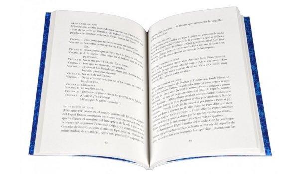 Imatge de les pàgines interiors del llibre 'Diario del marionetista Pepe Otal'