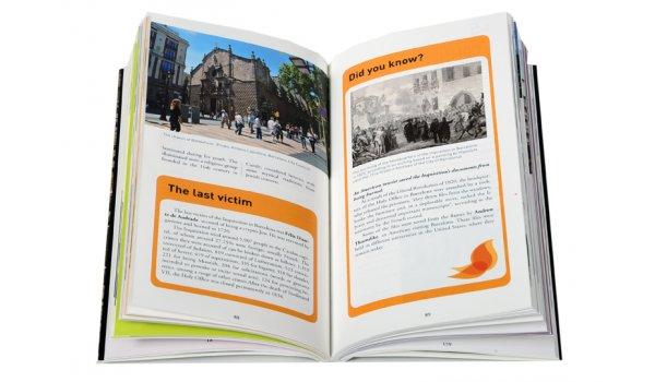 Imatge de les pàgines interiors del llibre 'Jewish Barcelona'