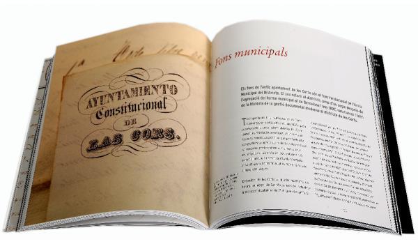 Imatge de pàgines interiors del llibre 'Les Corts i la preservació de la memòria història'