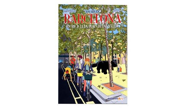 Imatge de la coberta del llibre 'Los seis en Barcelona. En bicicleta por Ciutat Vella'