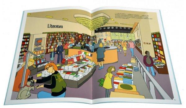 Imatge de les pàgines interiors del llibre 'Los seis en Barcelona. Secretos en el Eixample'
